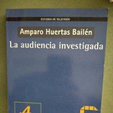 Libros de segunda mano: LA AUDIENCIA INVESTIGADA - AMPARO HUERTAS BAILEN. Lote 195477335
