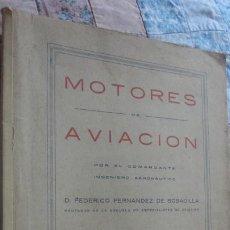 Libros de segunda mano: FEDERICO FERNANDEZ DE BOBADILLA.MOTORES DE AVIACION.LAMINAS. MALAGA 1942. AVIONES.. Lote 195494627