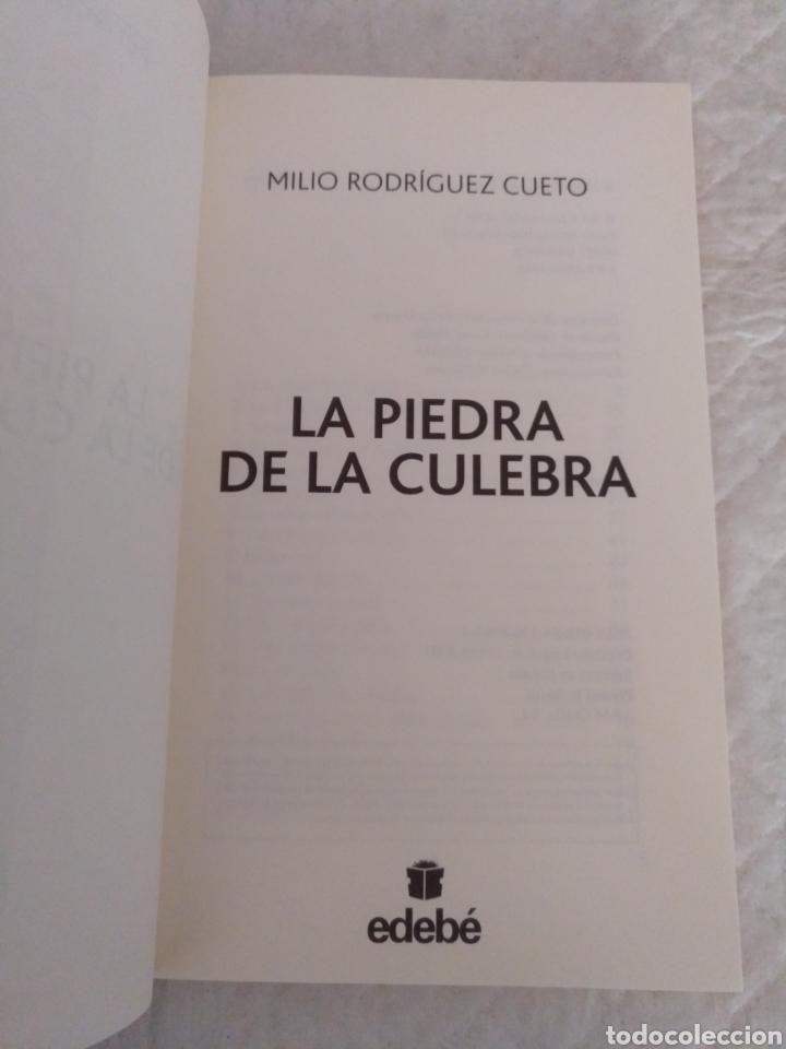 Libros de segunda mano: La piedra de la culebra. Milio Rodríguez Cueto. Libro - Foto 2 - 195503833