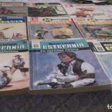 Libros de segunda mano: MARCIAL LAFUENTE ESTEFANÍA / LOTE CON 9 NOVELAS DEL OESTE: HEROES DEL OESTE,TEXAS,CENTAURO,KANSAS.... Lote 195503858
