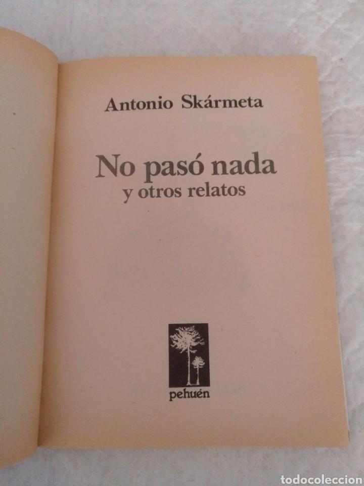 Libros de segunda mano: No paso nada y otros relatos. Antonio Skarmeta. Ilustraciones de Federico Aymá. Libro - Foto 2 - 195504928