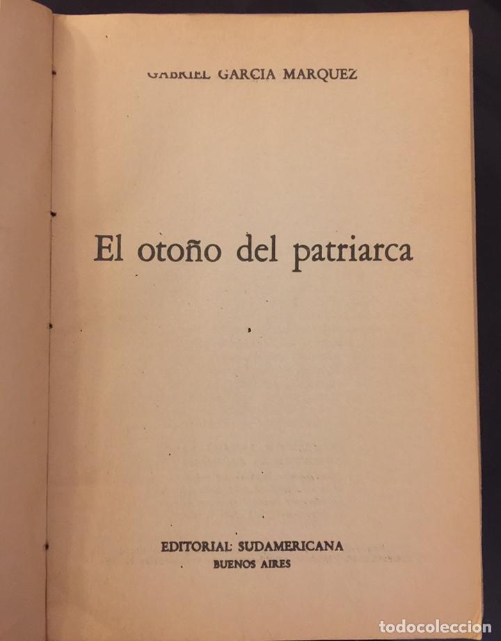Libros de segunda mano: Gabriel García Márquez. El Otoño del Patriarca. Edición original 1975.Editorial Sudamericana - Foto 3 - 195506870