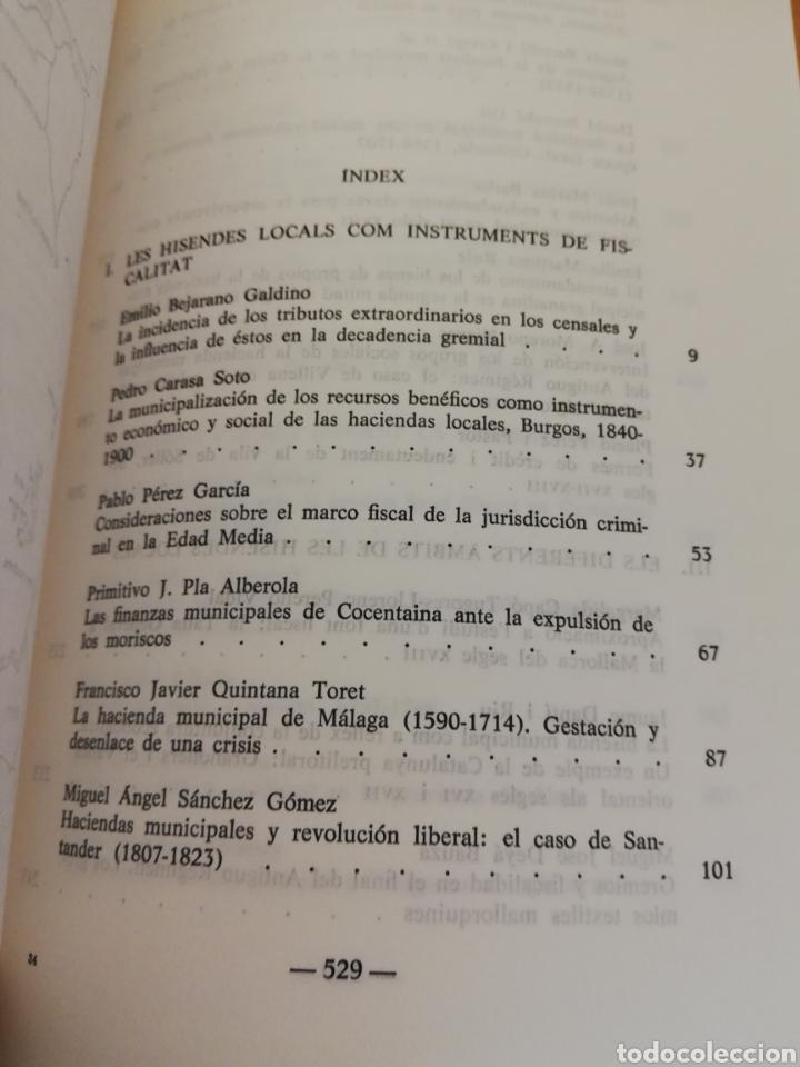 Libros de segunda mano: FISCALITAT ESTATAL I HISENDA LOCAL (SS. XVI - XIX): FUNCIONAMENT I REPERCUSSIONS SOCIALS - Foto 4 - 195511620