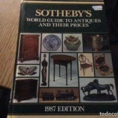 Libros de segunda mano: SOTHEBYS 1987 WORLD GUIDE TO ANTIQUES AND THEIR PRICES CATALOGO 800 PAGINAS ANTIGUEDADES. Lote 195514101