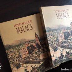 Libros de segunda mano: HISTORIA DE MÁLAGA. DOS TOMOS. SUR. COMO NUEVOS. Lote 195525266