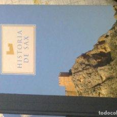 Libros de segunda mano: HISTORIA DE SAX / EN 3 TOMOS / COMPARSA DE MOROS - SAX 2005. Lote 195536235