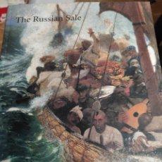 Libros de segunda mano: THE RUSSIAN SALE. SOTHEBYS 1996. CATÁLOGO CON PRECIOS DE VENTA.. Lote 195543042