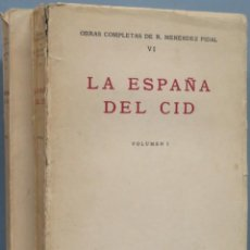Livros em segunda mão: LA ESPAÑA DEL CID. RAMON MENENDEZ PIDAL. 2 TOMOS. Lote 195566996