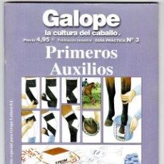 Libros de segunda mano: GALOPE LA CULTURA DEL CABALLO PRIMEROS AUXILIOS LETTERA 2006 BARCELONA . Lote 195770233