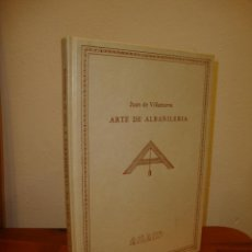 Libros de segunda mano: ARTE DE ALBAÑILERÍA - JUAN DE VILLANUEVA - EDICIÓN FACSÍMIL, MUY BUIEN ESTADO. Lote 195784610