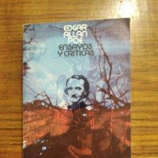 Livros em segunda mão: LIBRO ENSAYOS Y CRÍTICAS DE POE TRADUCIDO POR CORTÁZAR. Lote 195897052
