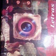 Libros de segunda mano: LETRAS, BOLETIN INSTITUTO ESTUDIOS ALMERIENSES 1997. Lote 195999963