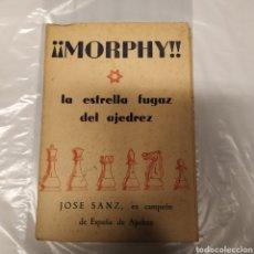 Libros de segunda mano: MORPHY,ESTRELLA FUGAZ DEL AJEDREZ. Lote 196021851