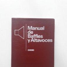 Livres d'occasion: MANUAL DE BAFFLES Y ALTAVOCES - FRANCISCO RUIZ VASSALLO (CEAC 7ª ED. 1993) . Lote 196052603