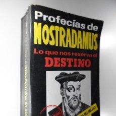 Libros de segunda mano: PROFECÍAS DE NOSTRADAMUS LO QUE NOS RESERVA EL DESTINO KLAUS BERGMAN. Lote 196137625