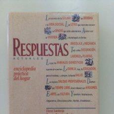 Libros de segunda mano: ENCICLOPEDIA PRÁCTICA DEL HOGAR. RESPUESTAS ACTUALES-ED. DEL PRADO-1989-TAPA DURA CON SOBRECUBIERTA. Lote 196522920