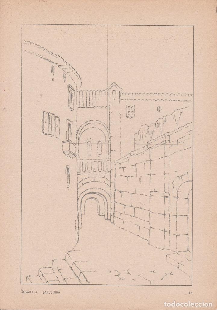 Libros de segunda mano: VADEMECUM DE DIBUJO – PAISAJE III – J.CAMINS – EDITORIAL M.A.SALVATELLA – 16 LÁMINAS - Foto 2 - 196759358
