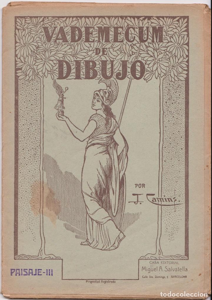 VADEMECUM DE DIBUJO – PAISAJE III – J.CAMINS – EDITORIAL M.A.SALVATELLA – 16 LÁMINAS (Libros de Segunda Mano - Ciencias, Manuales y Oficios - Otros)