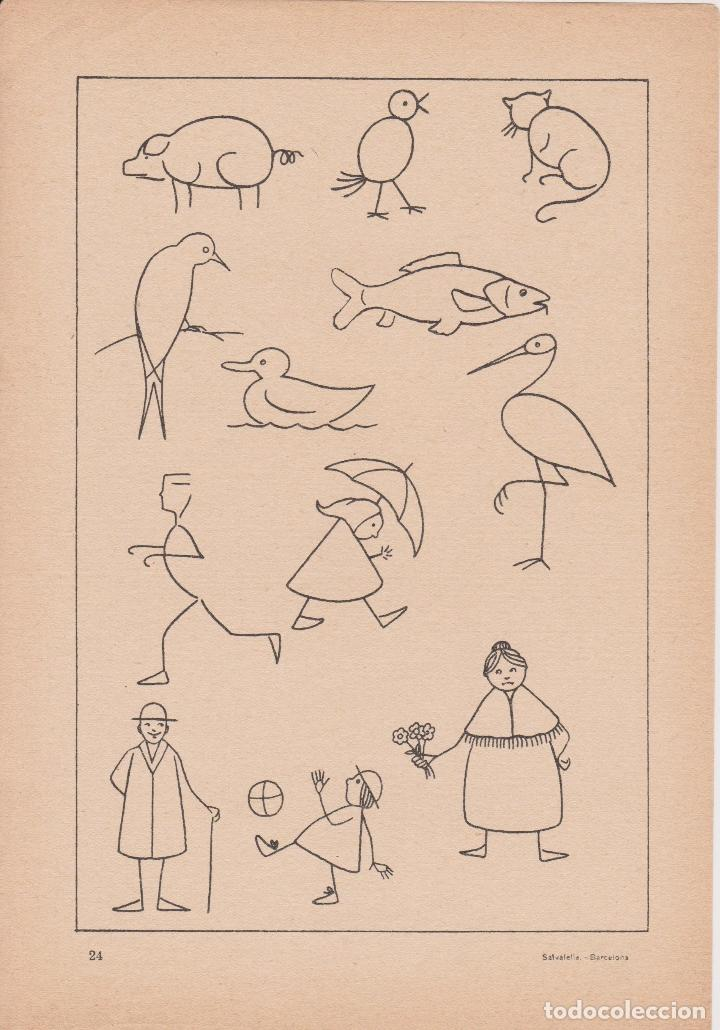 Libros de segunda mano: VADEMECUM DE DIBUJO – DIBUJOS INFANTILES II – J.CAMINS – EDITORIAL M.A.SALVATELLA – 16 LÁMINAS - Foto 3 - 196759958
