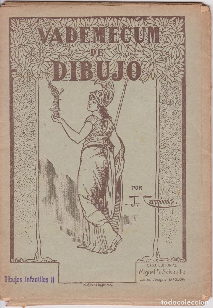 VADEMECUM DE DIBUJO – DIBUJOS INFANTILES II – J.CAMINS – EDITORIAL M.A.SALVATELLA – 16 LÁMINAS (Libros de Segunda Mano - Ciencias, Manuales y Oficios - Otros)