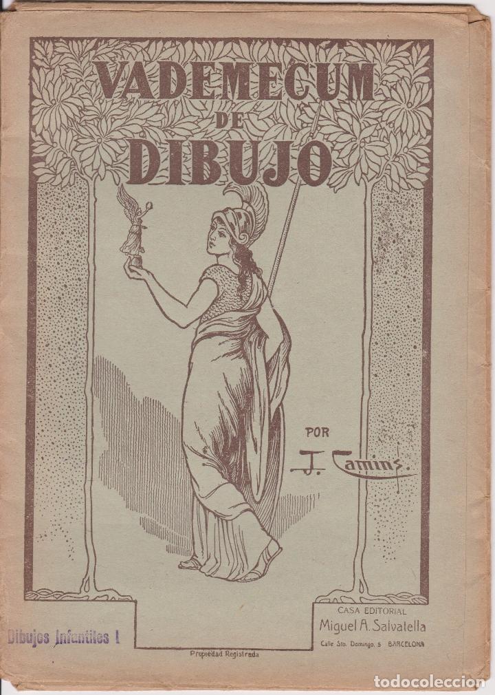 VADEMECUM DE DIBUJO – DIBUJOS INFANTILES I – J.CAMINS – EDITORIAL M.A.SALVATELLA – 15 LÁMINAS (Libros de Segunda Mano - Ciencias, Manuales y Oficios - Otros)