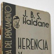 Libros de segunda mano: HERENCIA Y POLÍTICA - J.B.S. HALDANE. Lote 196990902
