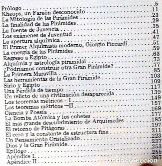 Libros de segunda mano: EL MENSAJE DE LA GRAN PIRAMIDE - JOSÉ ÁLVAREZ LÓPEZ - ED. AURA 1985 - VER INDICE - Foto 3 - 197083036