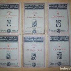 Libros de segunda mano: BIBLIOTECA TECNICA DE PREPARACION ALFA PROFESIONAL - LOTE 6 EJEMPLARES. Nº 58, 60, 62, 66, 76, 77, . Lote 197084853