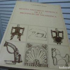 Libros de segunda mano: MORÁN, P. CÉSAR. - RESEÑA HISTÓRICO ARTÍSTICA DE LA PROVINCIA DE SALAMANCA.. Lote 197259442