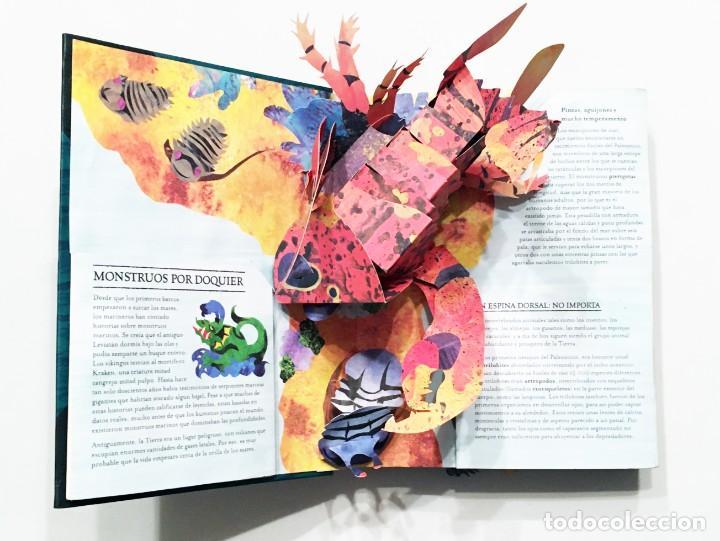 Libros de segunda mano: LIBRO DESPLEGABLE POP-UP - ENCICLOPEDIA PREHISTÓRICA, TIBURONES Y OTROS MONSTRUOS MARINOS - MONTENA - Foto 9 - 194906235