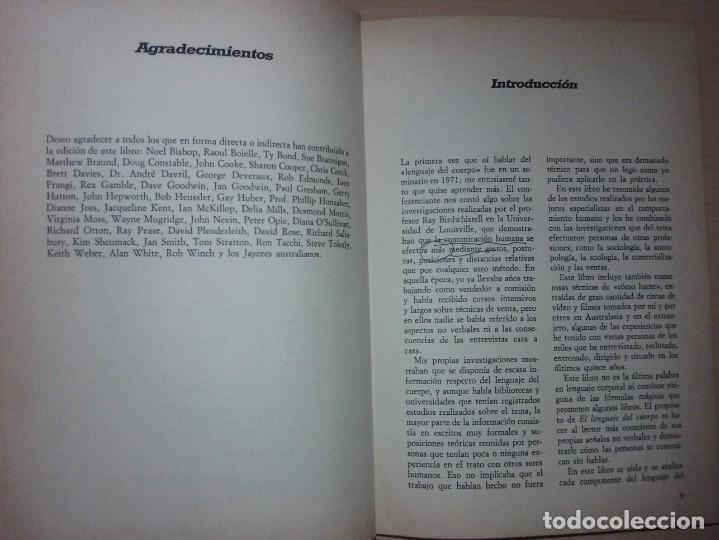 Libros de segunda mano: EL LENGUAJE DEL CUERPO - ALLAN PEASE (EDITORIAL CÍRCULO DE LECTORES) - Foto 5 - 197473582