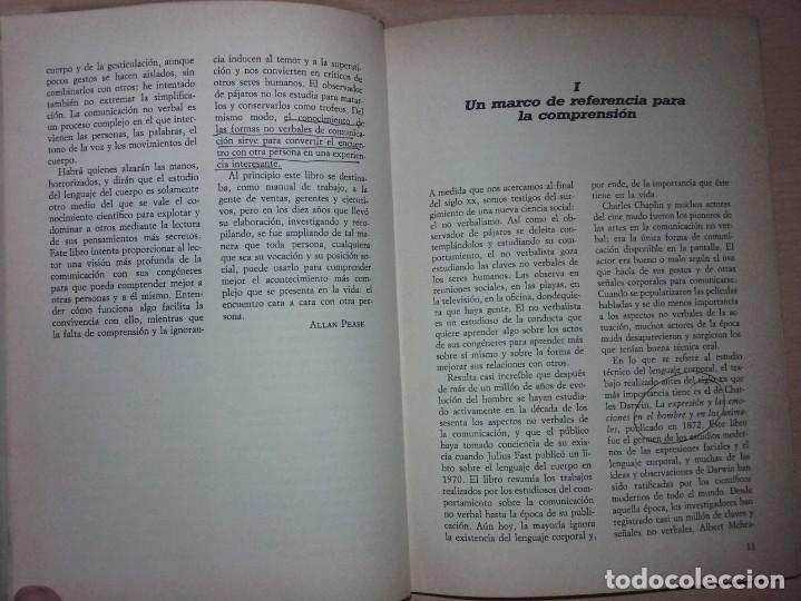 Libros de segunda mano: EL LENGUAJE DEL CUERPO - ALLAN PEASE (EDITORIAL CÍRCULO DE LECTORES) - Foto 6 - 197473582