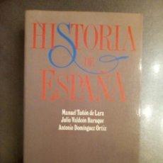 Libros de segunda mano: MANUEL TUÑÓN DE LARA, JULIO VALDEÓN BARUQUE Y ANTONIO DOMÍNGUEZ ORTIZ. HISTORIA DE ESPAÑA.. Lote 262819030
