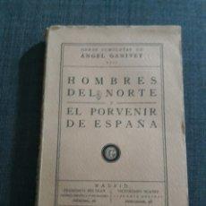 Libros de segunda mano: HOMBRES DEL NORTE Y EL PORVENIR DE ESPAÑA . ÁNGEL GANIVET. OBRAS COMPLETAS. VIII.. Lote 197624017