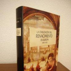 Libros de segunda mano: JOHN HALE: LA CIVILIZACIÓN DEL RENACIMIENTO EN EUROPA 1450-1620 (CRÍTICA, 1996) TAPA DURA. PERFECTO.. Lote 197904498