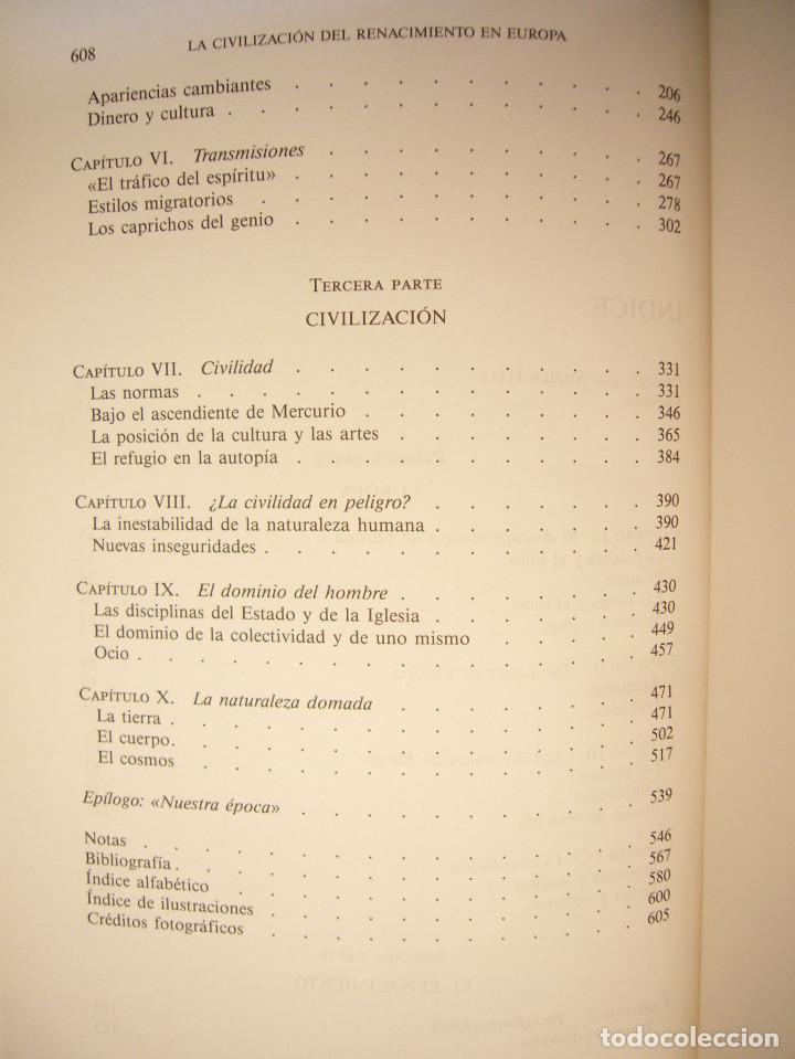 Libros de segunda mano: JOHN HALE: LA CIVILIZACIÓN DEL RENACIMIENTO EN EUROPA 1450-1620 (CRÍTICA, 1996) TAPA DURA. PERFECTO. - Foto 6 - 197904498