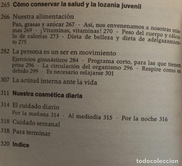 Libros de segunda mano: ABC DE LA BELLEZA FEMENINA - LIBRO MARIE LUISE STANGL - CONSEJOS CUIDADOS GUÍA CUTIS CUERPO MUJER - Foto 6 - 198212101