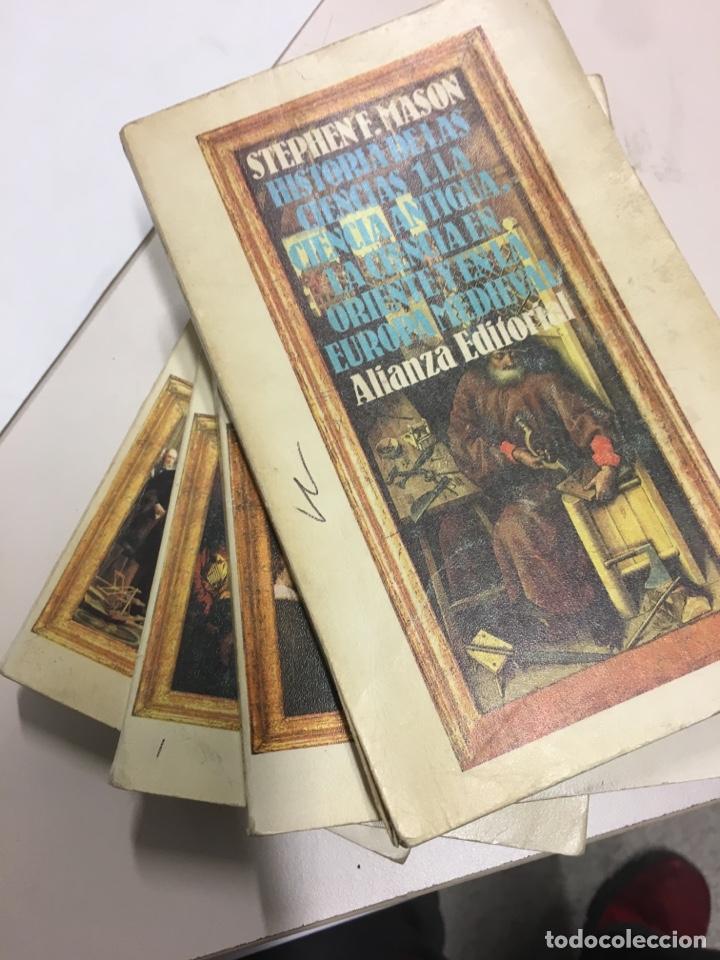 Libros de segunda mano: Stephen F Masón. Historia de las ciencias 1,2,3,4,5. Alianza 1988 - Foto 4 - 198311563