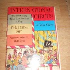 Livres d'occasion: INTERNACIONAL CIRCUS - LOTHAR MEGGENDORFERS - LIBRO POP-UP EN INGLES / CIRCO ANTIGUO. Lote 198558756
