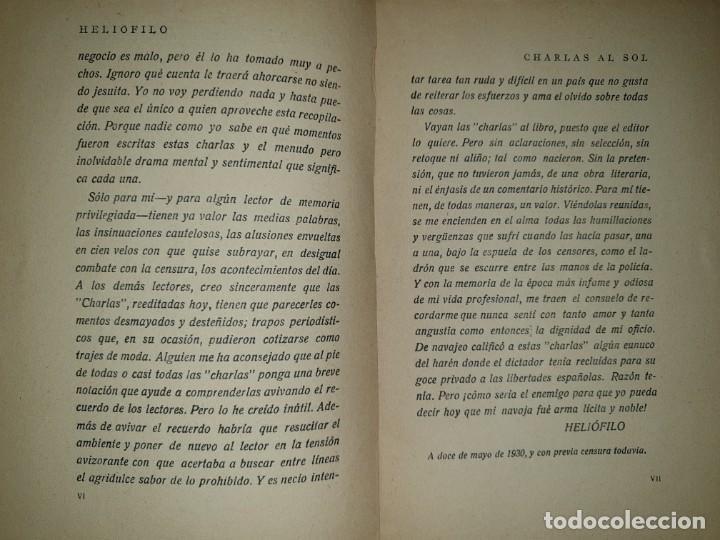 Libros de segunda mano: 2 libros de CHARLAS AL SOL. HELIOFILO . E. Dossat. Madrid. 1931. - Foto 5 - 198612115