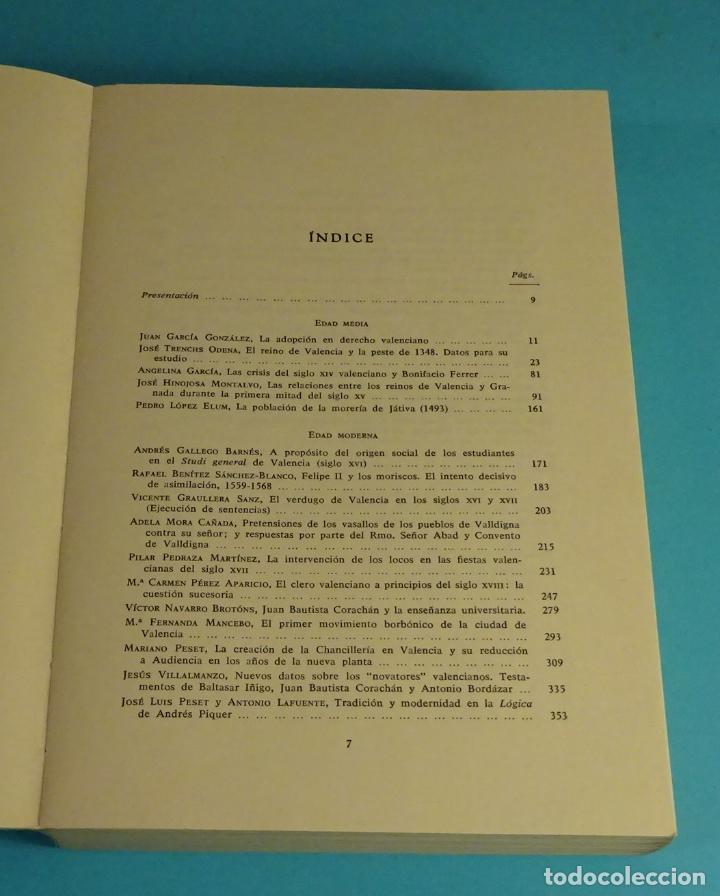 Libros de segunda mano: ESTUDIOS DE HISTORIA DE VALENCIA. UNIVERSIDAD DE VALENCIA - Foto 3 - 198651180
