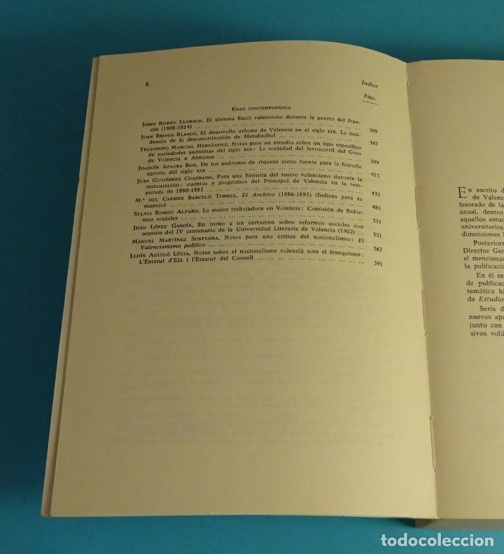 Libros de segunda mano: ESTUDIOS DE HISTORIA DE VALENCIA. UNIVERSIDAD DE VALENCIA - Foto 4 - 198651180