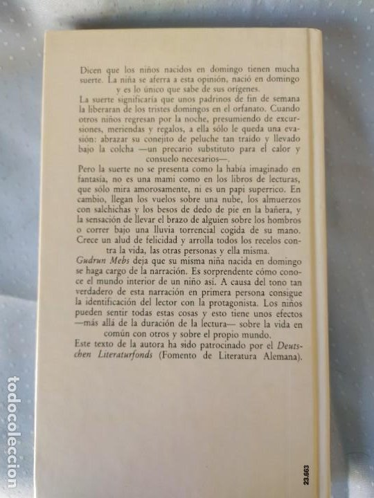 Libros de segunda mano: Nacida en domingo - Gudrun Mebs - Foto 2 - 198660476