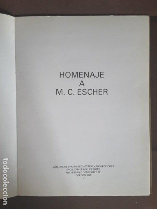 Libros de segunda mano: HOMENAJE A M. C. ESCHER CÁTEDRA DIBUJO GEOMÉTRICO PROYECCIONES UNIVERSIDAD COMPLUTENSE - Foto 2 - 198895550