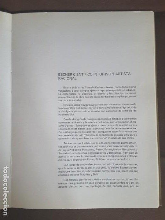 Libros de segunda mano: HOMENAJE A M. C. ESCHER CÁTEDRA DIBUJO GEOMÉTRICO PROYECCIONES UNIVERSIDAD COMPLUTENSE - Foto 9 - 198895550