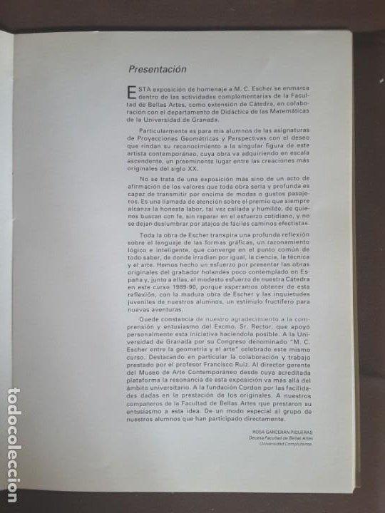 Libros de segunda mano: HOMENAJE A M. C. ESCHER CÁTEDRA DIBUJO GEOMÉTRICO PROYECCIONES UNIVERSIDAD COMPLUTENSE - Foto 12 - 198895550