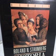 Libros de segunda mano: HISTORIA INTELECTUAL EUROPEA DESDE 1789. ROLAND N. STROMBERG. MADRID. 1990. Lote 198906803