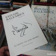 Libros de segunda mano: ESTUDIS BALEÀRICS. ELS GRAFFITI , UNA ALTRA HISTÒRIA. 2 TOMS . 1986. CAMPANAR DE LA SEU... MALLORCA. Lote 198957793
