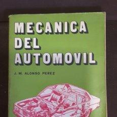 Libros de segunda mano: MECÁNICA DEL AUTOMÓVIL J. M. ALONSO PÉREZ VALLADOLID 4° EDICIÓN PARANINFO 1985. Lote 199040233