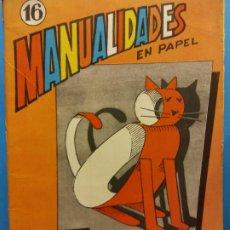 Livres d'occasion: MANUALIDADES EN PAPEL. EL MUNDO MARAVILLOSO DEL PAPEL. 24 FIGURAS. EDITORIAL MIGUEL A SALVATELLA. Lote 199122030